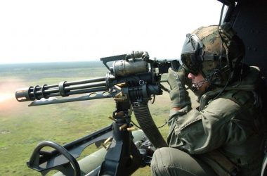 GAU 17 variant of the M134 being fired from UH 1N Huey lance cpl. Randall A. Clinton