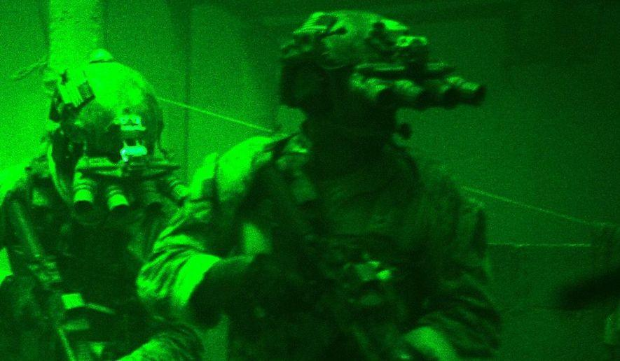 GPNVG-18 night vision googles used by SEAL Team 6 in Operation Neptune Spear (target GERONIMO - Osama Bin Laden) in 2011