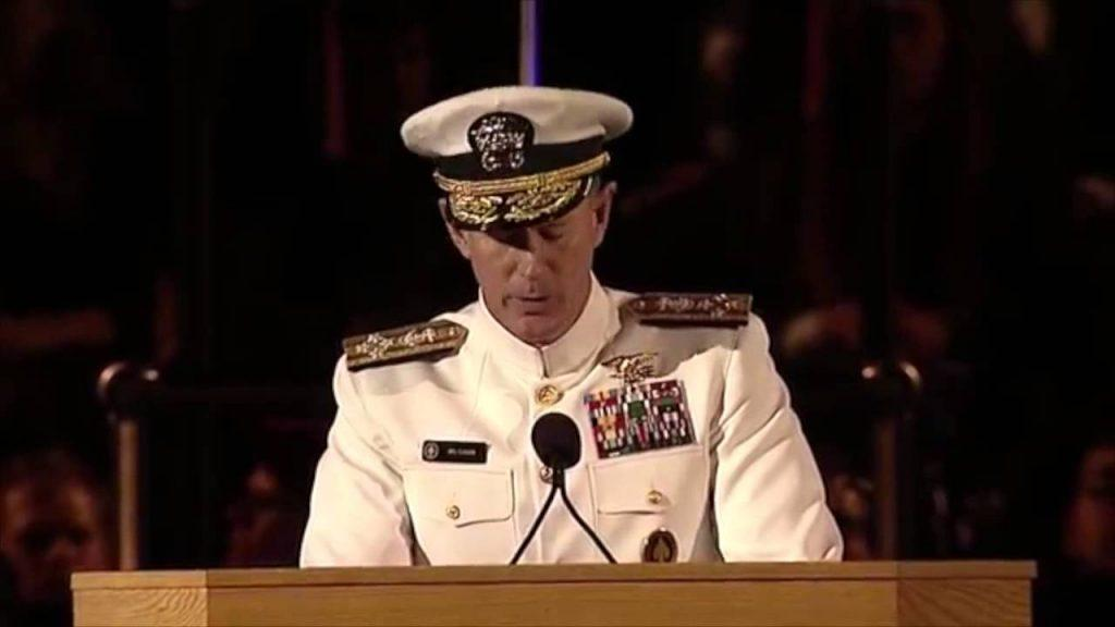 Admiral Speech About Making Your Bed