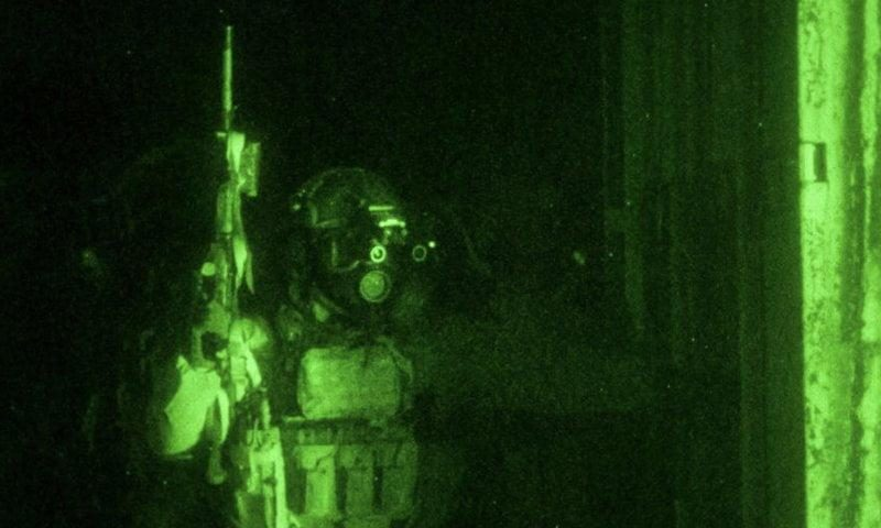 Delta Force operator during the night operation