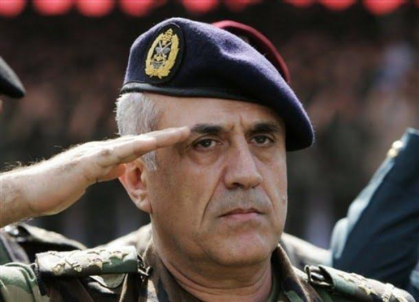 Syrian Army commander, Gen. Muhammad Suleiman salutes during a ceremony in Jounieh, Lebanon, Oct. 6, 2007. He was killed on August 1, 2008, in Tartus. The assassination was considered as the part of Operation Orchard