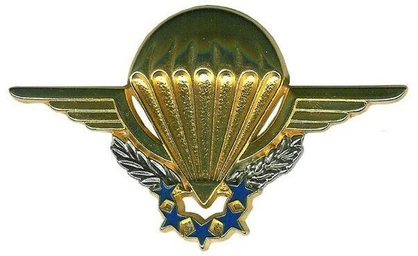 """This is the """" chuteur operationel"""" badge that makes the 2ème REP´s GCP part of the 19 other French Paratrooper Commando units they are aligned with."""
