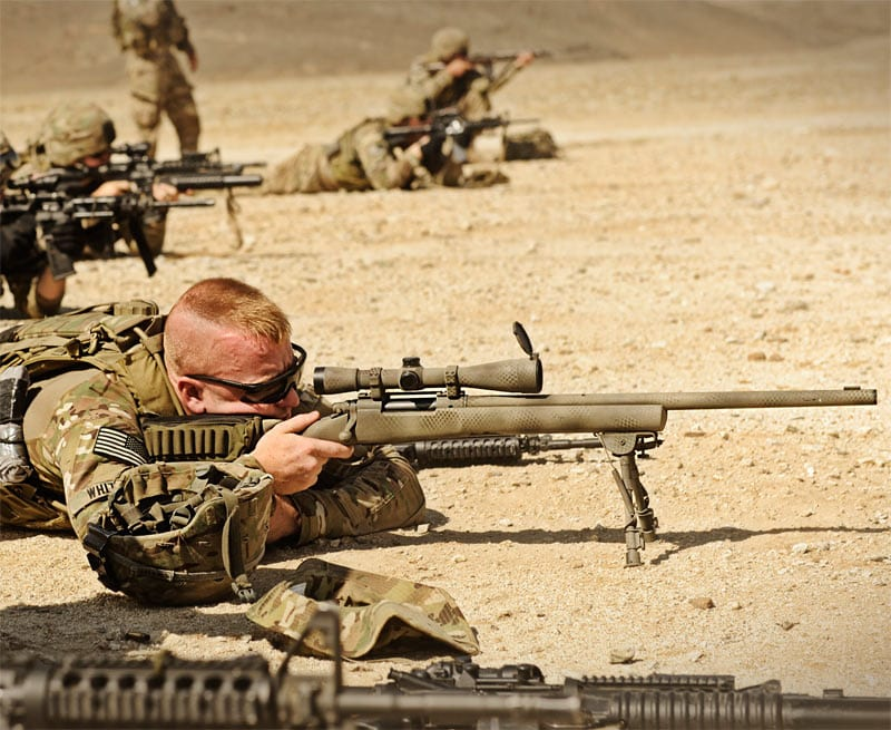 U.S. Army Looks Abroad for Lighter Sniper Rifle Barrels and M2010 ESR has exactly that