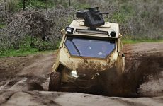 One of the Yagu advantages is the use General Robotics Pitbull – an ultralight remotely operated weapon station,integrating hostile fire and anti-drone, 'point and shoot', and remote control functions