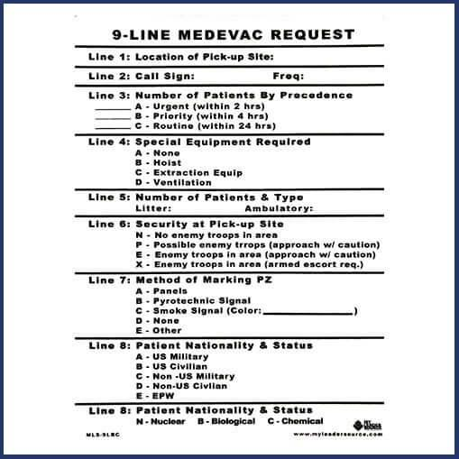 9-line medevac request example explained
