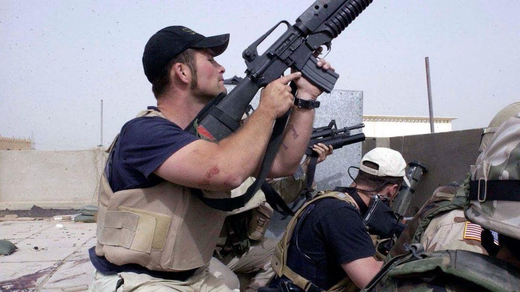 blackwater in gunfight iraq - Blackwater Private Contractors Fighting in Battle for Najaf (VIDEO)