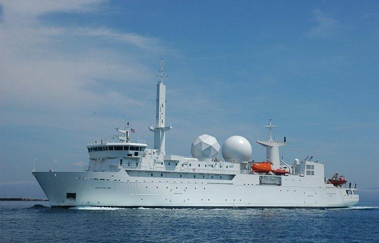 French signal intelligence (SIGNT) ship named Dupuy de Lome