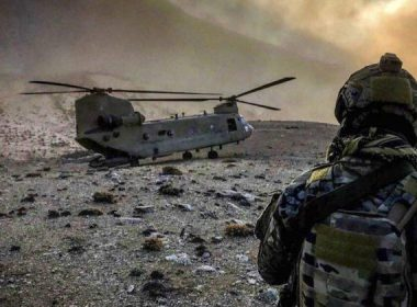 83rd Expeditionary Rescue Squadron observes a U.S. Army CH-47 Chinook