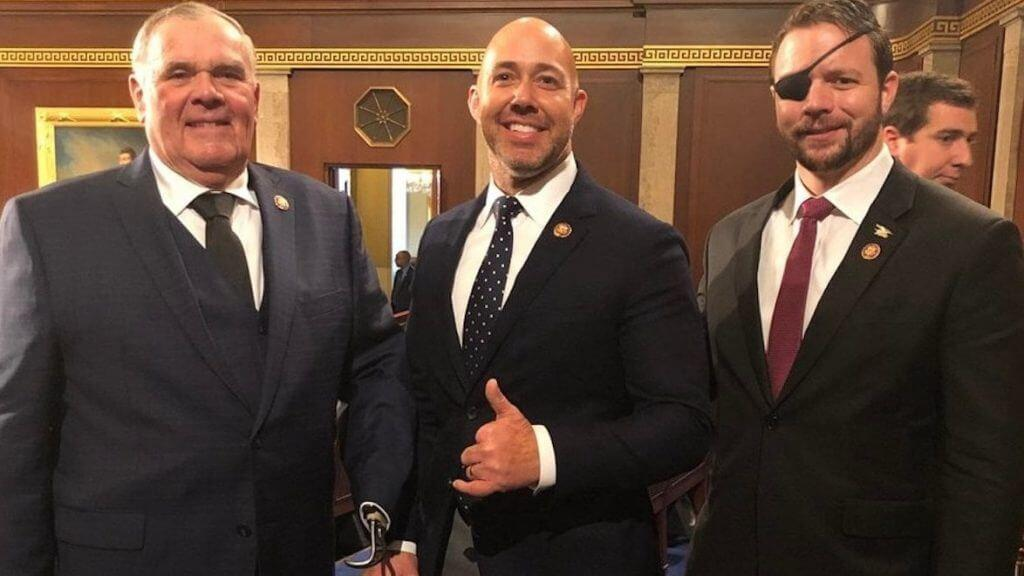Brian Mast Purple Heart - 3 Purple Heart Recipients Pose For Viral Photo in Congress