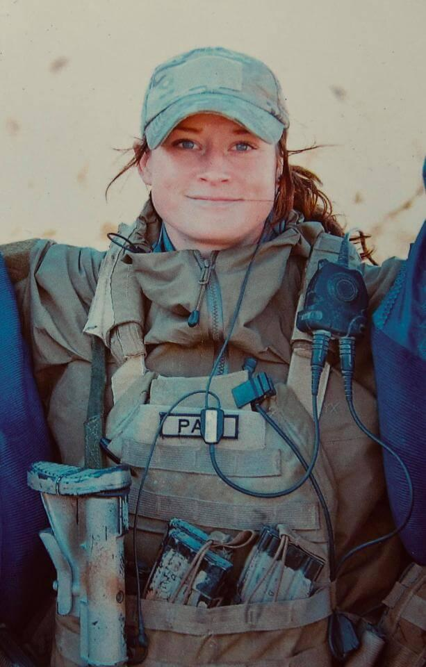 Petra Malm during one of her deployments - Being SOF Operator is 'nearly as tough as being a mum'
