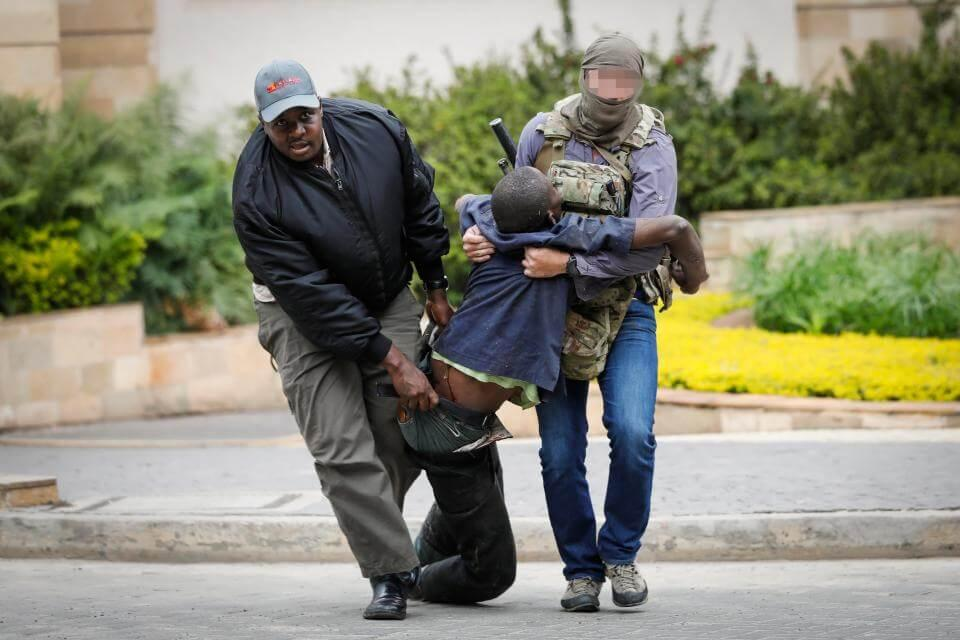 SAS operator during siege of hotel in Nairobi, Kenya