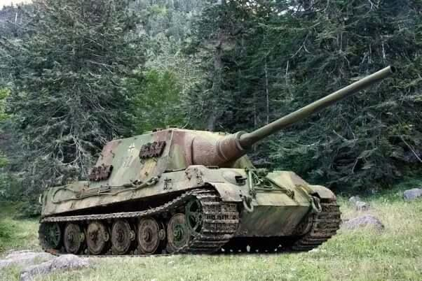 Thee German Jagdtiger tank destroyer