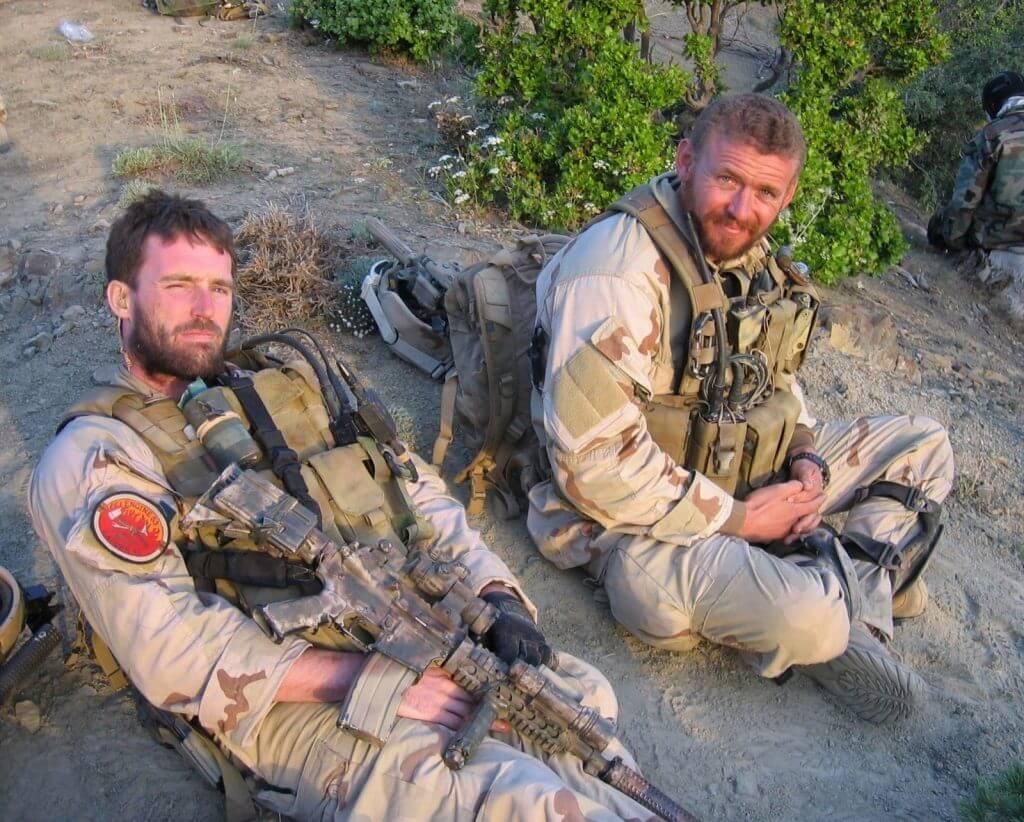 Navy SEAL Lt. Michael P. Murphy and Sonar Technician (Surface) 2nd Class Matthew G. Axelson, in Afghanistan.