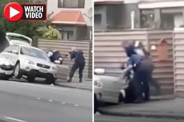 new zealand gunman detained - The moment New Zealand gunman is arrested by police