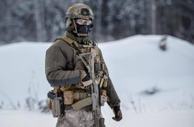 Russian SOF Operator brandishing his AK-style rifle