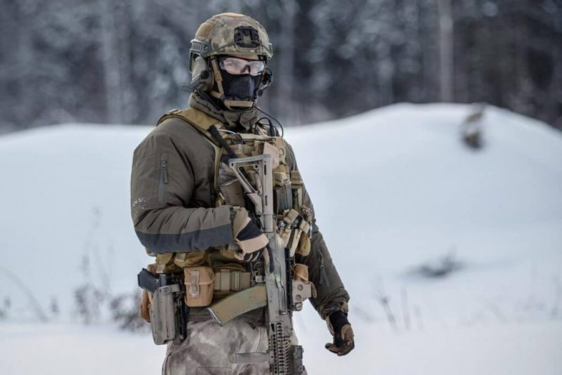 Russian SOF Operator brandishing his AK-style rifle