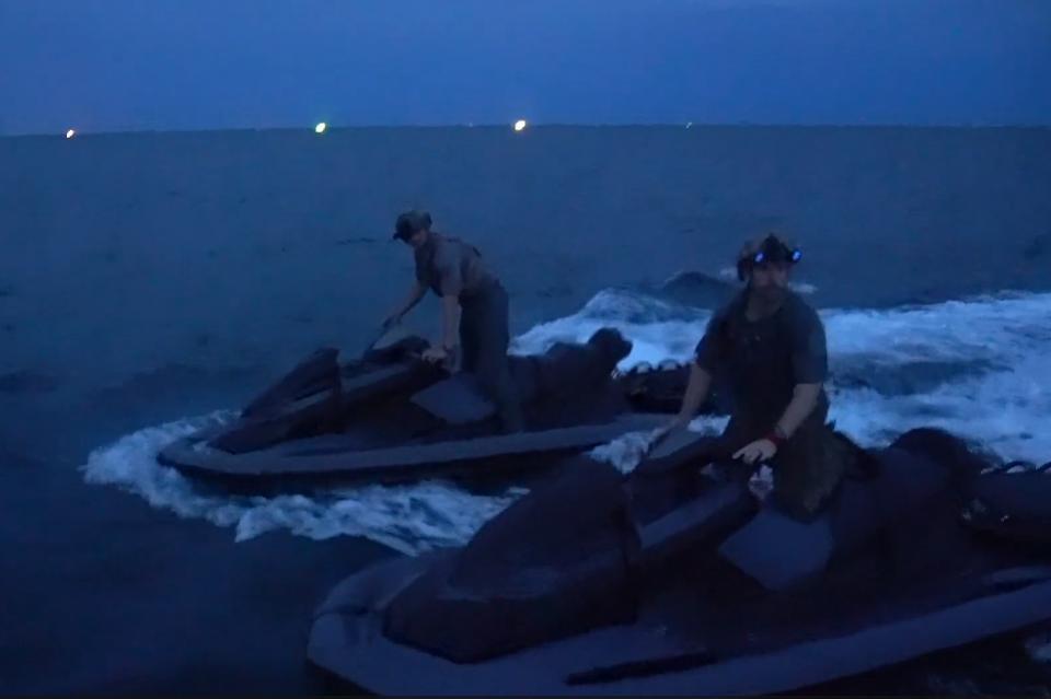 U.S. Navy SEALs on Jet Skis
