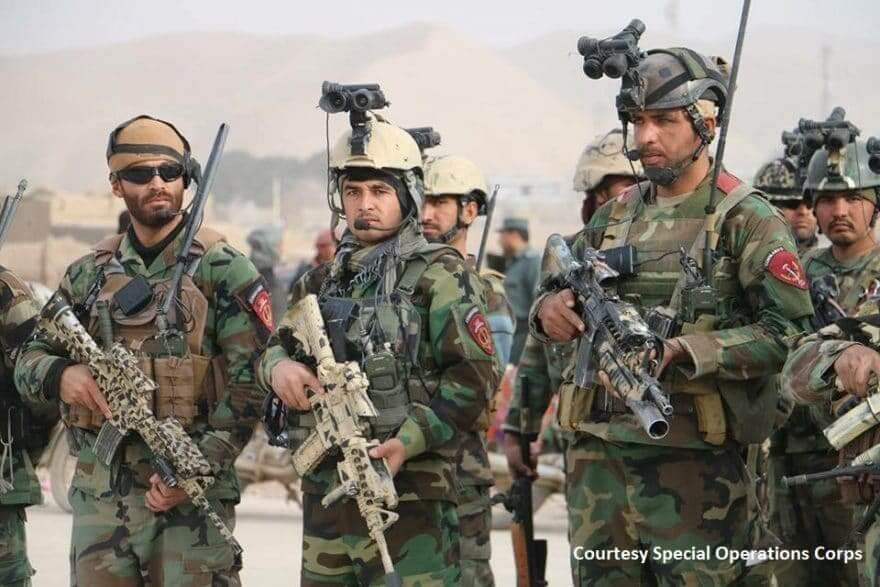 Afghan Special Forces - operators from the ANACDO (ANA Commando Brigade) during the training