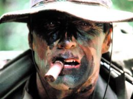 Clint Eastwood as Marine Sgt. Highway in movie Heartbreak Ridge in 1986