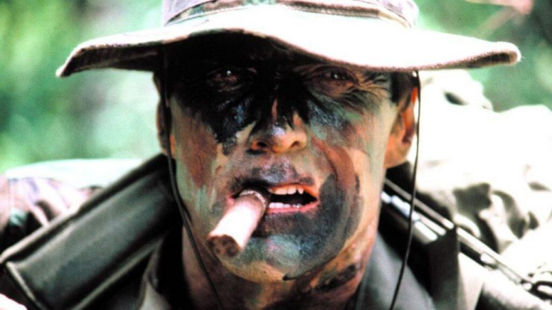 Clint Eastwood as Marine Sgt. Highway in movie Heartbreak Ridge in 1986