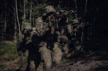 Polish Armed Forces armed with Grot C16 assault rifle