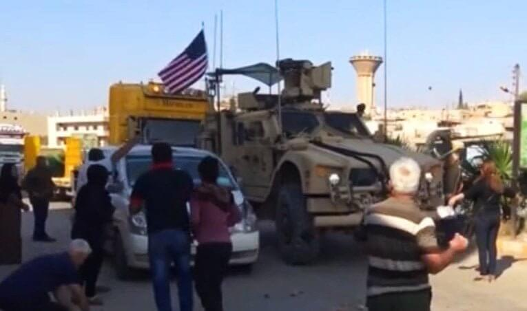 American military convoy attacked by Kurdish civilians 1