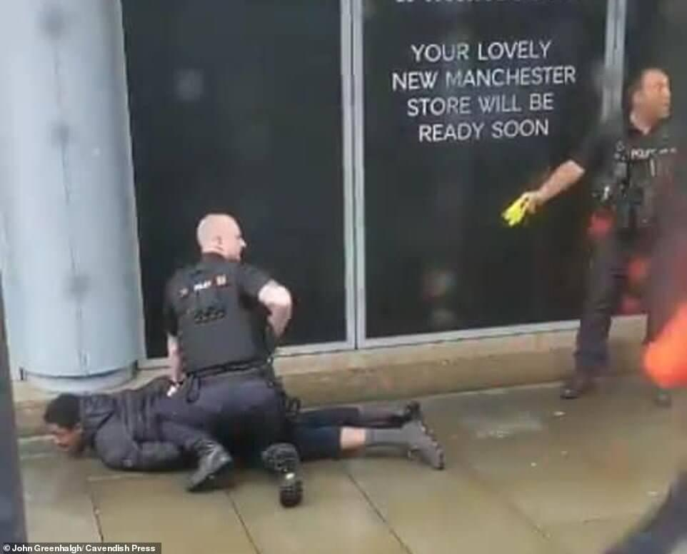 Terror suspect tasered after stabbing attack in Manchester 11
