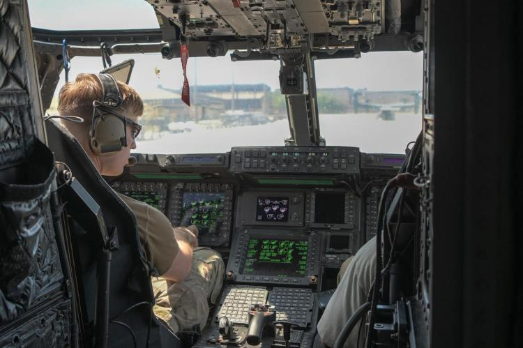 The view from inside a CV-22 Osprey 1