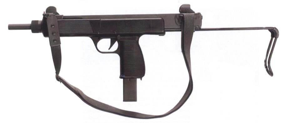 Steyr MPi 69 submachine gun - sideview