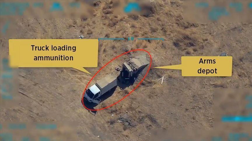 Turkish Warplane hit YPG truck with pinpoint accuracy 2