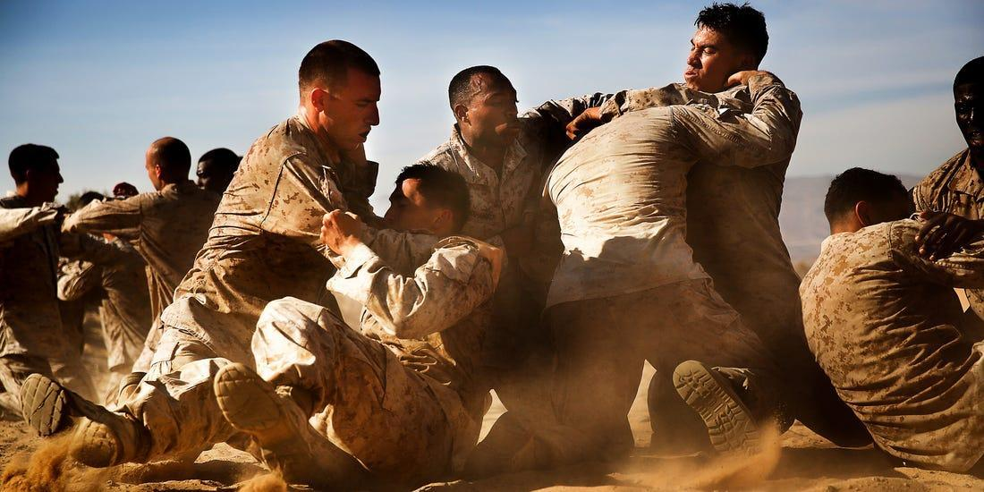 hand-to-hand combat in modern military conflicts