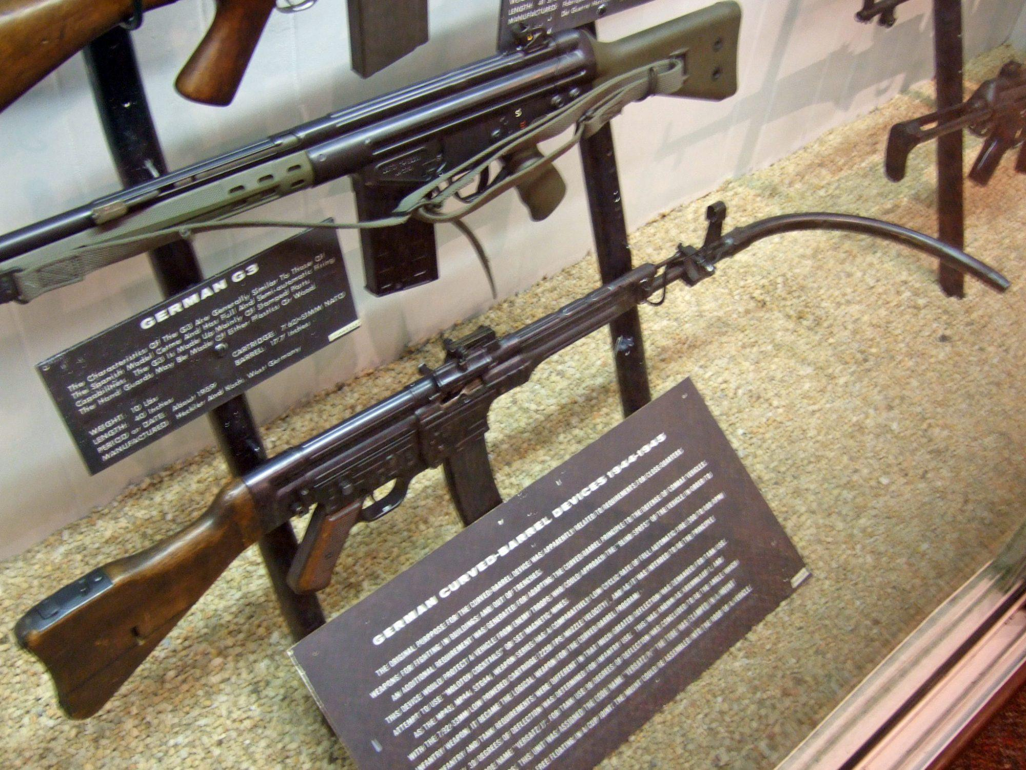 Krummlauf was an additional equipment for German G3 and StG44 rifles in the dawn of the World War II