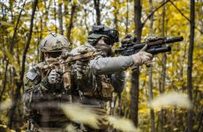 MARSOC Raiders aiming their weapons during the training