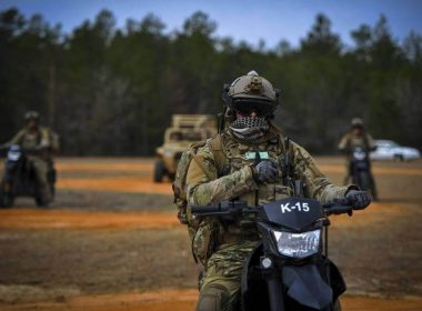 Delta Force / CAG operator on its motorbike