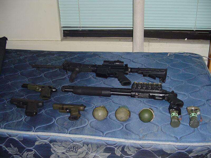 Sommer's weaponry found after he was arrested