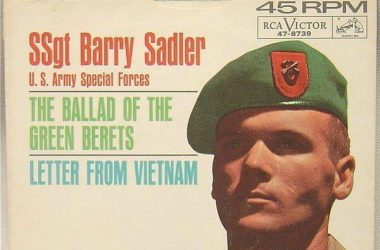 SSgt Barry Sadler, a famous Green Beret, the author of the song