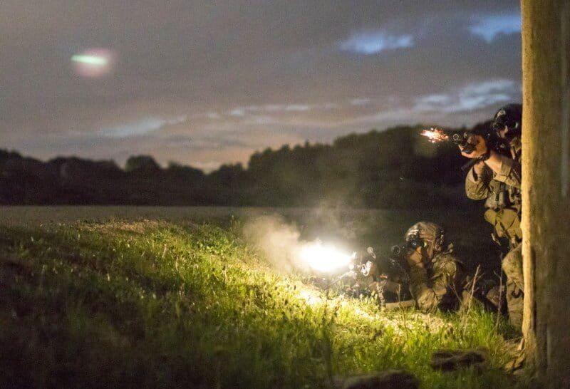 U.S. Army Rangers suppressive fire