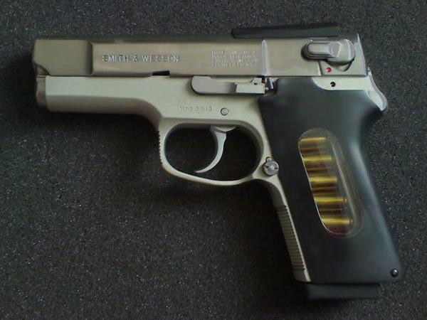 A Smith & Wesson M39 modified to become a ASP 2000