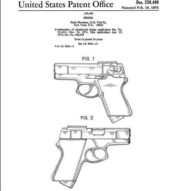 ASP 9mm Auto Pistol by Paris Theodore