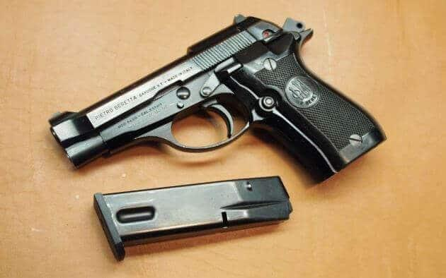 Beretta 84 blowback double-action semi-automatic pistol