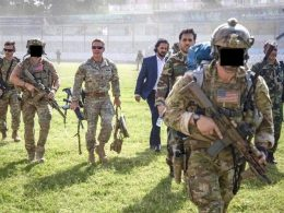 Delta Force operators provide personal security for General Austin Miller; During his arrival to Kunduz Province, Afghanistan, 2019