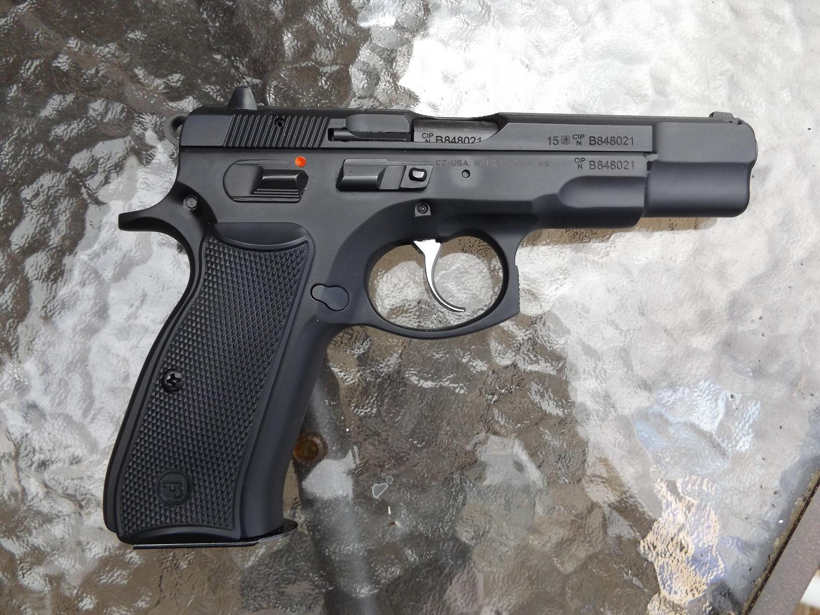 CZ 85 B is an updated version of the CZ 75 with a firing pin block that is also ambidextrous