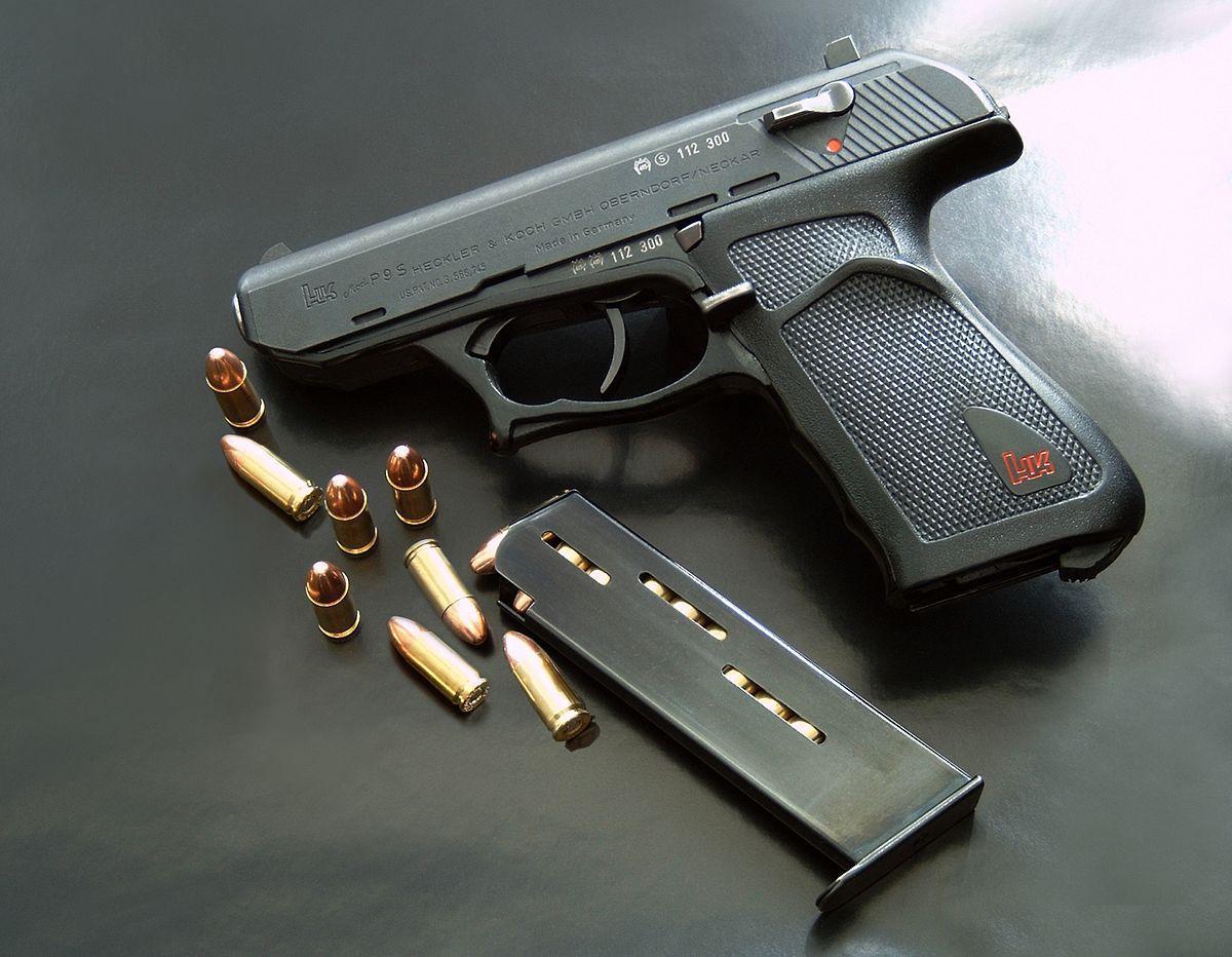 Heckler & Koch P9 pistol chambered in 9 mm Parabellum caliber
