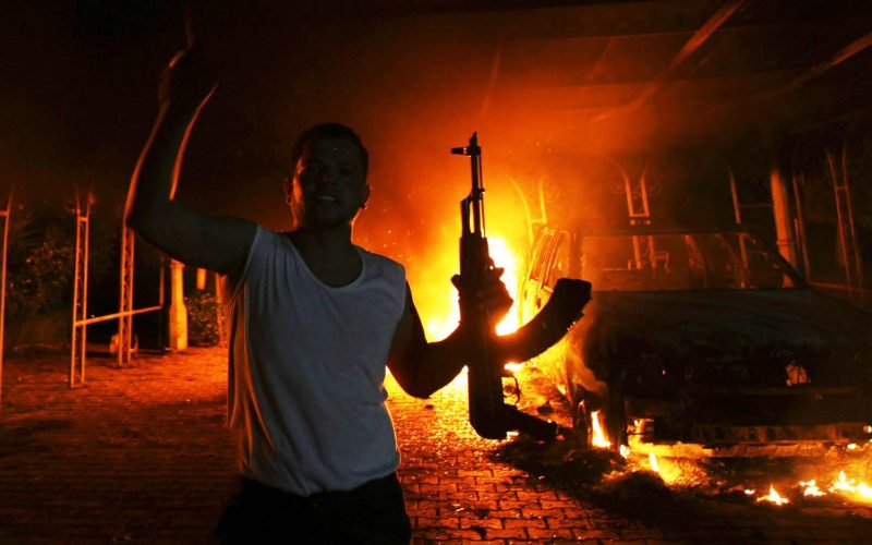 US compound in Benghazi set on fire on September 11, 2012