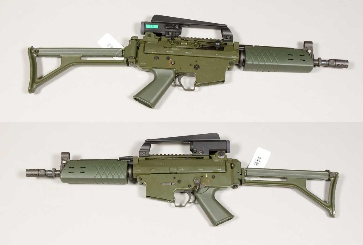 The Ak 5D assault rifle with its magazine removed