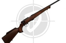 Anschutz model 54 silhouette rifle with mounted scope