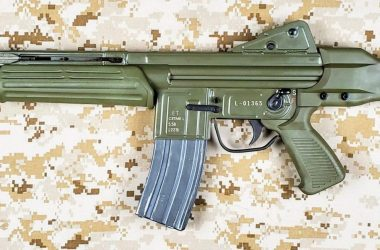 CETME Model L was Spanish assault rifle chambered in 5.56 mm caliber