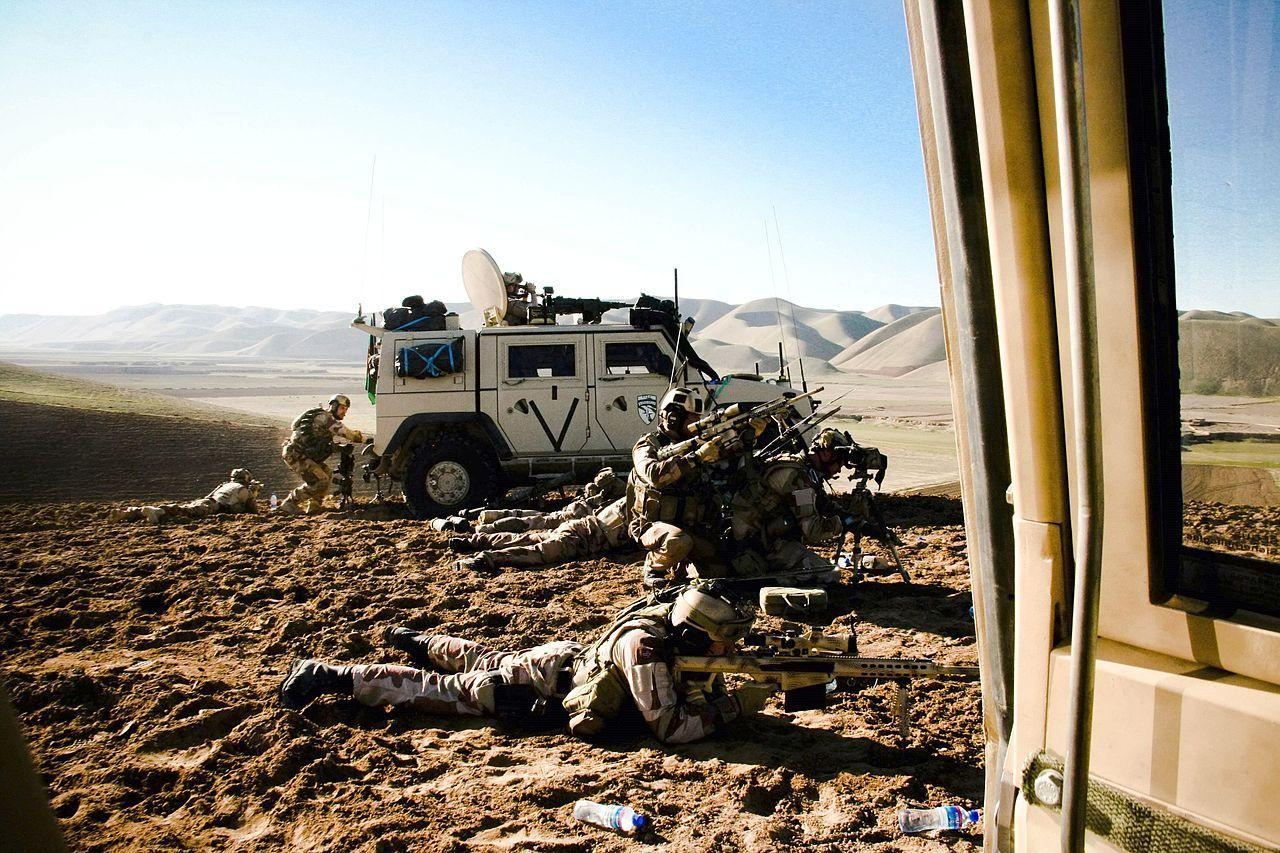 Norwegian Special Operations Forces aiming with Barrett M82A1 (M107) during a long range firefight in Afghanistan