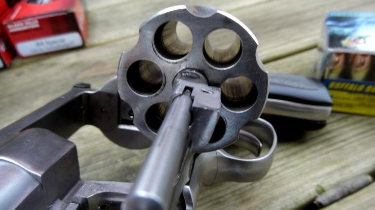 Ruger Redhawk is double-action 6-shot revolver chambered in .44 Magnum