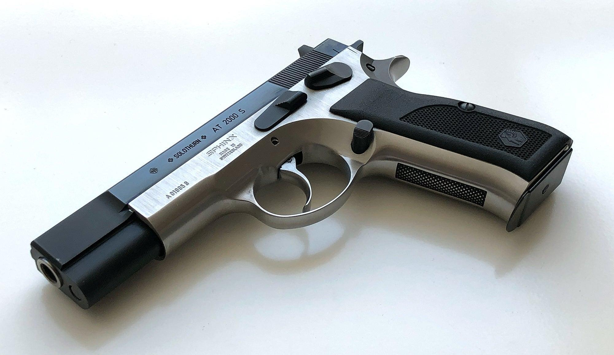 Swiss-made Sphinx AT-2000S, an improved version of the Czech CZ 75 service pistol